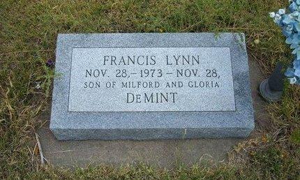 DEMINT, FRANCIS LYNN - Wallace County, Kansas | FRANCIS LYNN DEMINT - Kansas Gravestone Photos