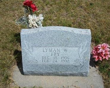 FRY, LYMAN W - Wallace County, Kansas   LYMAN W FRY - Kansas Gravestone Photos