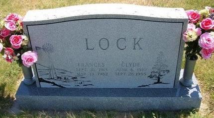 LOCK, FRANCES - Wallace County, Kansas | FRANCES LOCK - Kansas Gravestone Photos