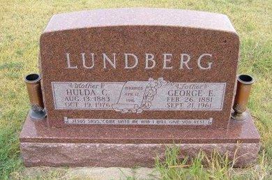 LUNDBERG, HULDA CECELIA - Wallace County, Kansas | HULDA CECELIA LUNDBERG - Kansas Gravestone Photos