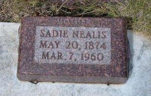 NEALIS, SADIE - Wallace County, Kansas | SADIE NEALIS - Kansas Gravestone Photos