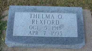 REXFORD, THELMA O - Wallace County, Kansas | THELMA O REXFORD - Kansas Gravestone Photos