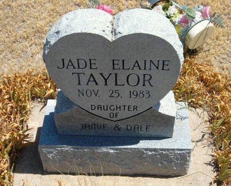 TAYLOR, JADE ELAINE - Wallace County, Kansas   JADE ELAINE TAYLOR - Kansas Gravestone Photos