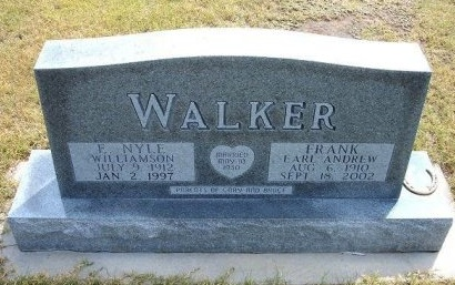 WALKER, FRANK EARL  ANDREW - Wallace County, Kansas | FRANK EARL  ANDREW WALKER - Kansas Gravestone Photos
