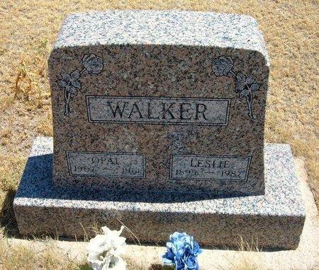 WALKER, LESLIE - Wallace County, Kansas | LESLIE WALKER - Kansas Gravestone Photos