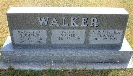 WALKER, MARGARET F - Wallace County, Kansas | MARGARET F WALKER - Kansas Gravestone Photos