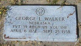 WALKER, GEORGE L  (VETERAN) - Wallace County, Kansas | GEORGE L  (VETERAN) WALKER - Kansas Gravestone Photos