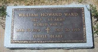 WARD, WILLIAM HOWARD  (VETERAN WWII) - Wallace County, Kansas | WILLIAM HOWARD  (VETERAN WWII) WARD - Kansas Gravestone Photos