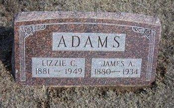 ADAMS, JAMES A - Wichita County, Kansas | JAMES A ADAMS - Kansas Gravestone Photos
