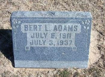 ADAMS, BERT L - Wichita County, Kansas   BERT L ADAMS - Kansas Gravestone Photos