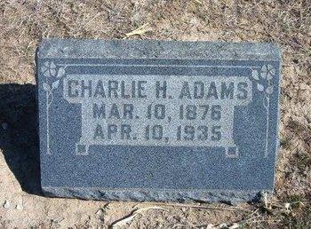 ADAMS, CHARLIE H - Wichita County, Kansas   CHARLIE H ADAMS - Kansas Gravestone Photos