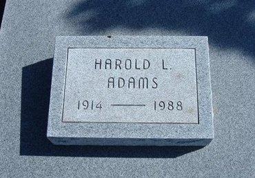 ADAMS, HAROLD L - Wichita County, Kansas | HAROLD L ADAMS - Kansas Gravestone Photos