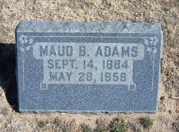 ADAMS, MAUD B - Wichita County, Kansas | MAUD B ADAMS - Kansas Gravestone Photos