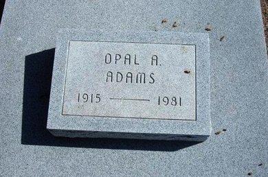 ADAMS, OPAL A - Wichita County, Kansas | OPAL A ADAMS - Kansas Gravestone Photos