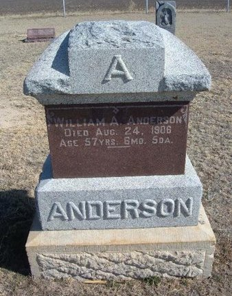 ANDERSON, WILLIAM A - Wichita County, Kansas | WILLIAM A ANDERSON - Kansas Gravestone Photos