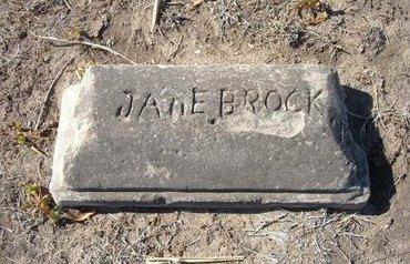 BROCK, JANE - Wichita County, Kansas   JANE BROCK - Kansas Gravestone Photos