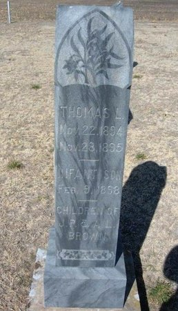 BROWN, THOMAS L - Wichita County, Kansas | THOMAS L BROWN - Kansas Gravestone Photos