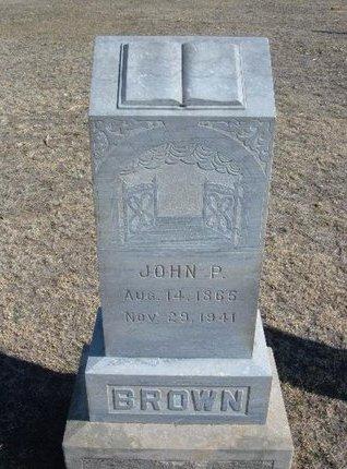 BROWN, JOHN P - Wichita County, Kansas | JOHN P BROWN - Kansas Gravestone Photos