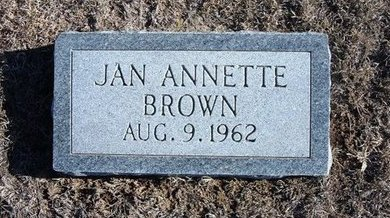 BROWN, JAN ANETTE - Wichita County, Kansas | JAN ANETTE BROWN - Kansas Gravestone Photos