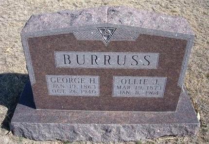 BURRUSS, OLLIE J - Wichita County, Kansas | OLLIE J BURRUSS - Kansas Gravestone Photos