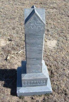 BURRUSS, INFANT SON - Wichita County, Kansas | INFANT SON BURRUSS - Kansas Gravestone Photos