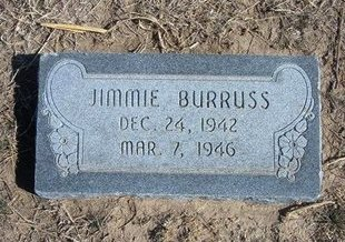 BURRUSS, JIMMIE - Wichita County, Kansas | JIMMIE BURRUSS - Kansas Gravestone Photos