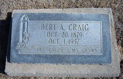 CRAIG, BERT A - Wichita County, Kansas | BERT A CRAIG - Kansas Gravestone Photos