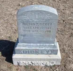 DICKEY, MILTON P - Wichita County, Kansas   MILTON P DICKEY - Kansas Gravestone Photos
