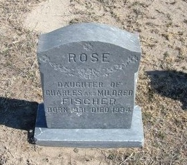 FISCHER, ROSE - Wichita County, Kansas | ROSE FISCHER - Kansas Gravestone Photos