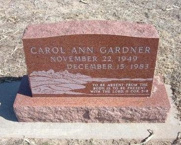 GARDNER, CAROL ANN - Wichita County, Kansas | CAROL ANN GARDNER - Kansas Gravestone Photos