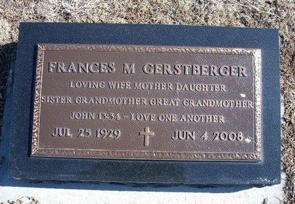 GERSTBERGER, FRANCES M - Wichita County, Kansas | FRANCES M GERSTBERGER - Kansas Gravestone Photos
