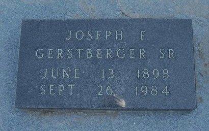 GERSTBERGER , JOSEPH F, SR - Wichita County, Kansas | JOSEPH F, SR GERSTBERGER  - Kansas Gravestone Photos