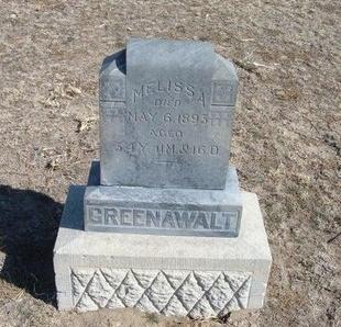 GREENAWALT, MELISSA - Wichita County, Kansas | MELISSA GREENAWALT - Kansas Gravestone Photos