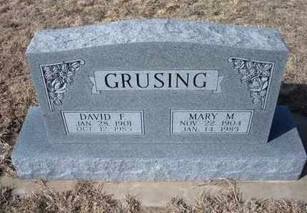 GRUSING, MARY M - Wichita County, Kansas | MARY M GRUSING - Kansas Gravestone Photos