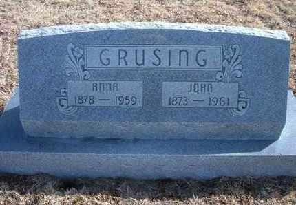 GRUSING, ANNA - Wichita County, Kansas   ANNA GRUSING - Kansas Gravestone Photos