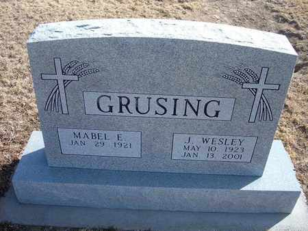 GRUSING, J. WESLEY - Wichita County, Kansas   J. WESLEY GRUSING - Kansas Gravestone Photos