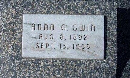 GWIN, ANNA G - Wichita County, Kansas | ANNA G GWIN - Kansas Gravestone Photos