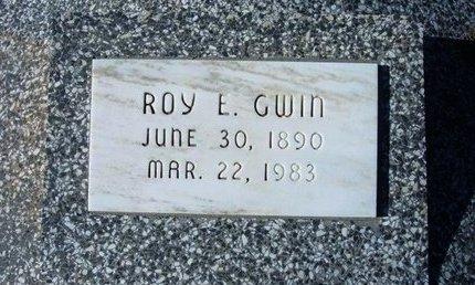 GWIN, ROY E - Wichita County, Kansas | ROY E GWIN - Kansas Gravestone Photos