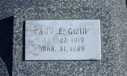 GWIN, ROY E - Wichita County, Kansas   ROY E GWIN - Kansas Gravestone Photos