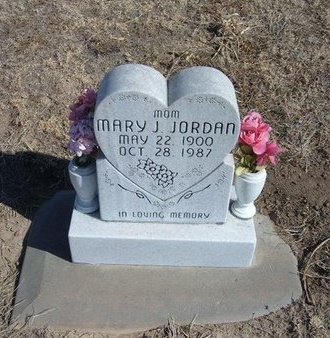 JORDAN, MARY J - Wichita County, Kansas   MARY J JORDAN - Kansas Gravestone Photos