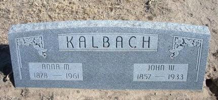 KALBACH, ANNA MARIA - Wichita County, Kansas   ANNA MARIA KALBACH - Kansas Gravestone Photos