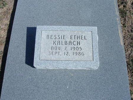 LANGLEY KALBACH, BESSIE ETHEL - Wichita County, Kansas | BESSIE ETHEL LANGLEY KALBACH - Kansas Gravestone Photos