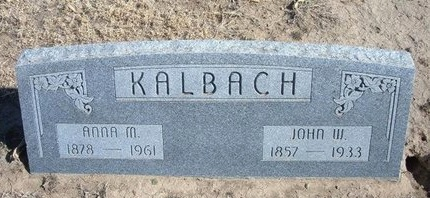 KALBACH, JOHN WASHINGTON - Wichita County, Kansas   JOHN WASHINGTON KALBACH - Kansas Gravestone Photos