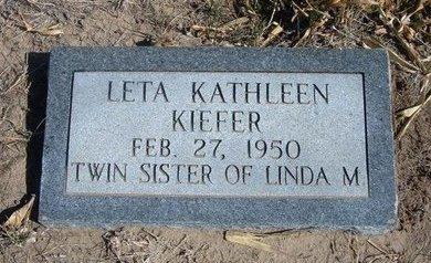 KIEFER, LETA KATHLEEN - Wichita County, Kansas | LETA KATHLEEN KIEFER - Kansas Gravestone Photos