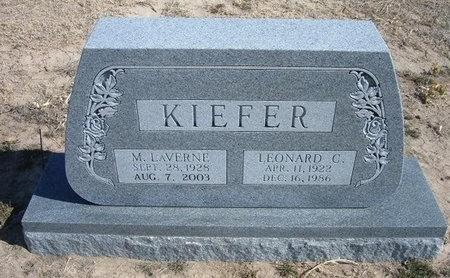 KIEFER, LEONARD C - Wichita County, Kansas | LEONARD C KIEFER - Kansas Gravestone Photos