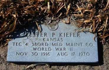 KIEFER, LESTER PAUL  (VETERAN WWII) - Wichita County, Kansas   LESTER PAUL  (VETERAN WWII) KIEFER - Kansas Gravestone Photos