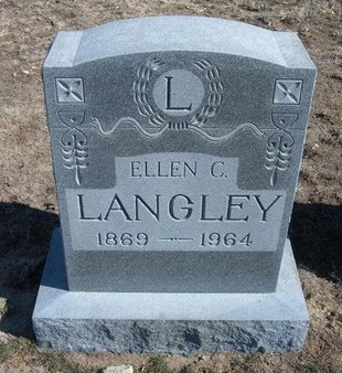 LANGLEY, ELLEN C - Wichita County, Kansas | ELLEN C LANGLEY - Kansas Gravestone Photos