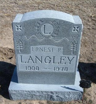 LANGLEY, ERNEST R - Wichita County, Kansas   ERNEST R LANGLEY - Kansas Gravestone Photos