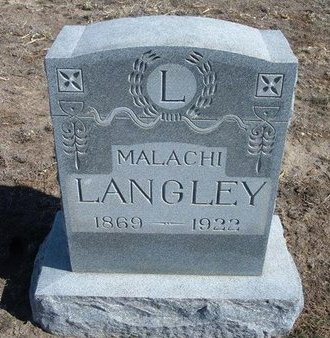 LANGLEY, MALACHI - Wichita County, Kansas | MALACHI LANGLEY - Kansas Gravestone Photos