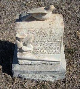 LUTZ, PAUL L - Wichita County, Kansas | PAUL L LUTZ - Kansas Gravestone Photos